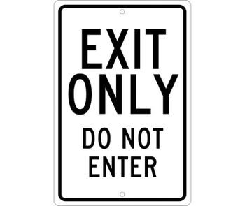 Exit Only Do Not Enter 18X12 .080 Hip Ref Alum