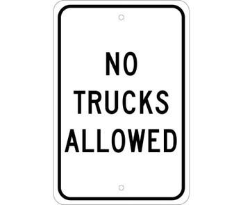 No Trucks Allowed 18X12 .080 Egp Ref Alum