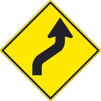 (Arrow Graphic Left) Lane Shift Sign 30X30 .080 Hip Ref Alum