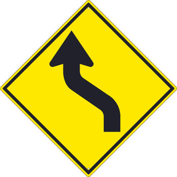 (Arrow Graphic Right) Lane Shift Sign 30X30 .080 Hip Ref Alum