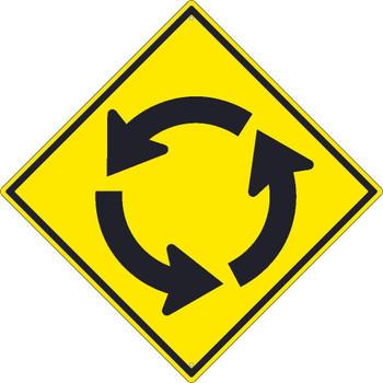 (Roundabout Graphic)Sign 30X30 .080 Hip Ref Alum