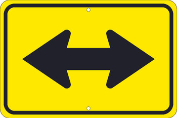 (Large Arrow Two Directions Graphic) Sign 12X18 .080 Hip Ref Alum