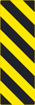 (Left Stripe Yellow Object Marker Graphic) Sign 12X36 .080 Hip Ref Alum