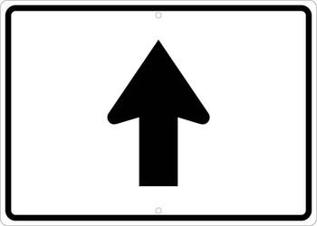 Straight Auxiliary Arrow Sign .080 Egp Ref Alum