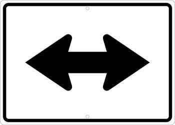 Double Arrow Sign,.080 Egp Ref Al 15X21