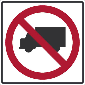 No Trucks(Graphic)Sign 24X24 .080 Egp Ref Alum