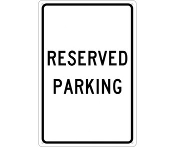 Reserved Parking 18X12 .040 Alum