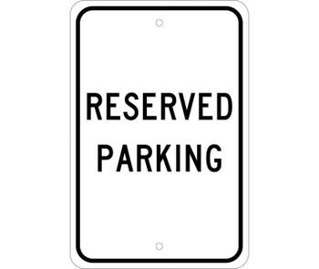 Reserved Parking 18X12 .080 Egp Ref Alum
