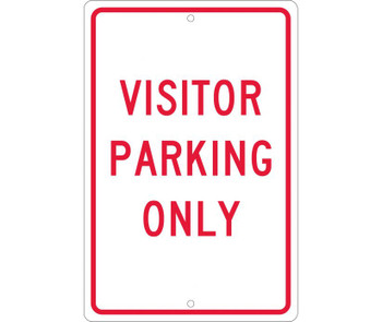 Visitor Parking Only 18X12 .063 Alum