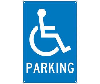 Parking (W/ Handicapped Symbol) 18X12 .040 Alum
