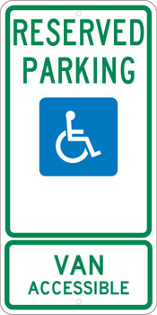 Reserved Parking Van Accessible 24X12 .080 Egp Ref Alum Sign