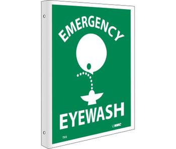 Emergency Eye Wash Flanged 10X8 Rigid Plastic