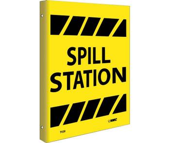 Spill Station Flanged 10X8 Rigid Plastic