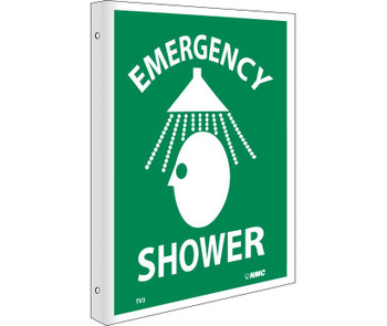 Emergency Shower Flanged 10X8 Rigid Plastic