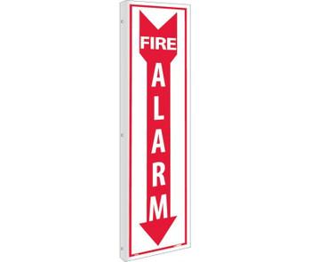 Flange Fire Alarm 18X4 Rigid Plastic