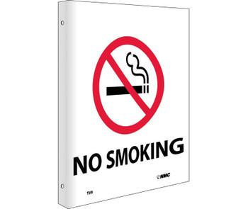 No Smoking Flanged 10X8 Rigid Plastic