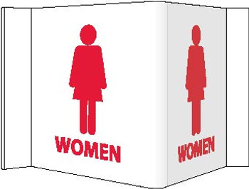 Visi Sign Women White 8X14 1/2 Rigid Vinyl