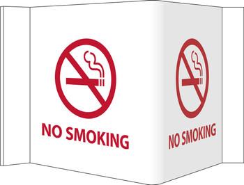 Visi Sign No Smoking White 8X14 1/2 Rigid Vinyl