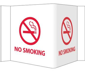 Visi Sign No Smoking White 5 3/4X8 3/4 Rigid Vinyl