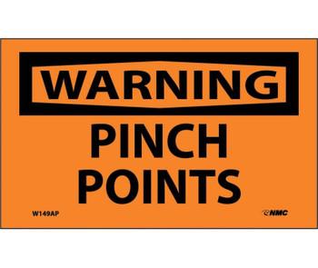 Warning Pinch Points 3X5 Ps Vinyl 5Pk