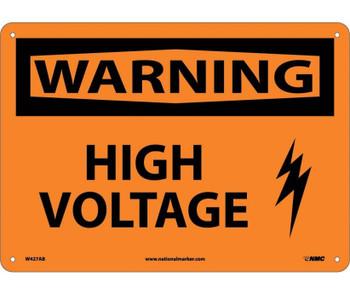 Warning High Voltage Graphic 10X14 .040 Alum