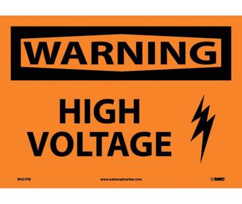 Warning High Voltage Graphic 10X14 Ps Vinyl