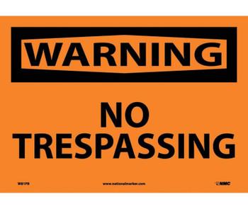 Warning No Trespassing 10X14 Ps Vinyl