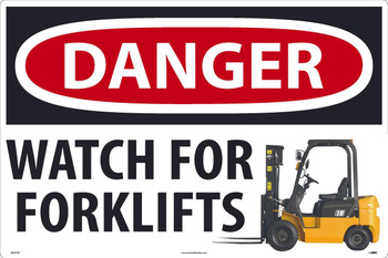 Danger Watch For Forklifts Large Floor And Wall Sign 24X36 Texwalk