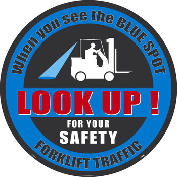 "Blue Spot Forklift Traffic Large Floor And Wall Sign 36"",Sportwalk"