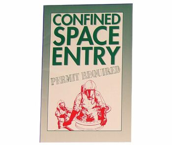 Handbook Confined Space Entry Permit Required 10/Pk
