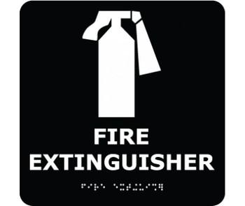 Ada Braille Fire Extinguisher Blk 8X8