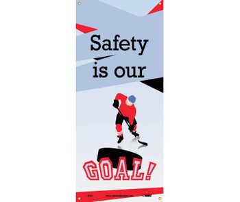 """Banner Safety Is Our Goal 60"""" X 26"""""""