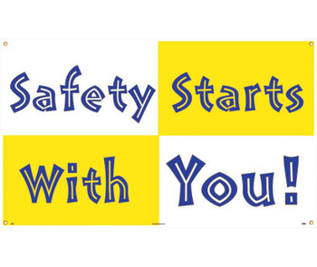Banner Safety Starts With You 3Ft X 5Ft