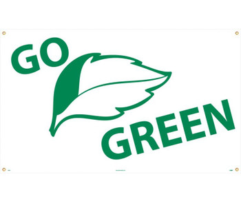 Go (Graphic) Green 3Ft X 5Ft Polyethylene