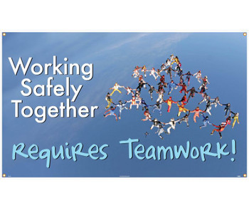Banner Working Safety Together Requires Teamwork 3Ft X 5Ft