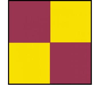 Tape Checkerboard Magenta Yellow 2X36 Yds