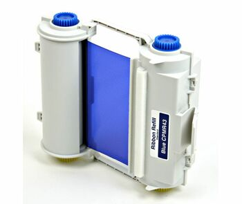 4 2/3 In. X 164 Ft. Durable Resin Ribbon Blue Refillable Cartridge