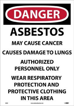 Asbestos Dust Hazard. . . 20X14 Paper 100/Pk