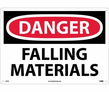 Danger Falling Materials