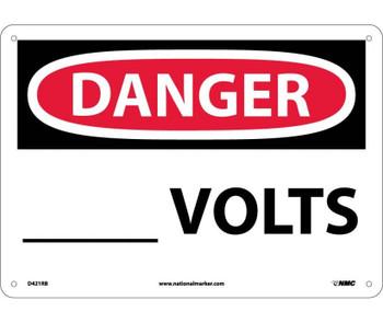 Danger ____ Volts 10X14 Rigid Plastic