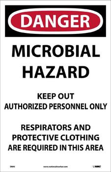 Danger Microbial Hazard. . . 17X11 Paper 100/Pk