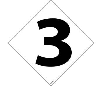 "Hazard Identification System Labels 3 3"" (5/Pk) Ps Vinyl"