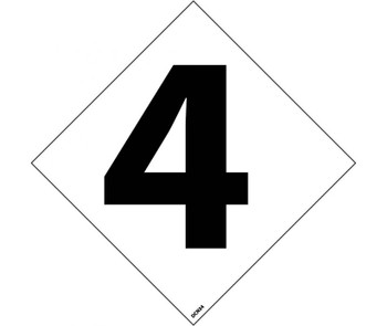 "Hazard Identification System Labels 4 3"" (5/Pk) Ps Vinyl"