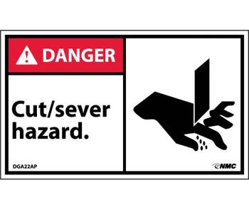 Danger Cut/Sever Hazard (Graphic) 3X5 Ps Vinyl 5/Pk