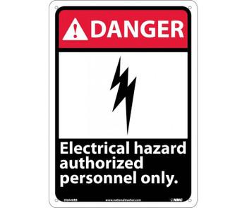 Danger Electrical Hazard Authorized Personnel Only 14X10 Rigid Plastic