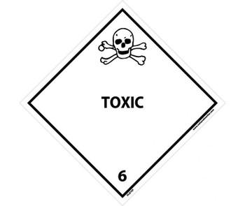 Dot Shipping Labels Toxic 6 4X4 Ps Vinyl 25/Pk