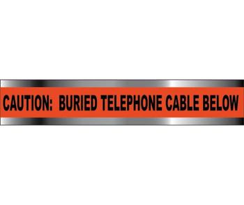 "Detectable Underground Tape Caution Telephone Line Below 6""X1000'"