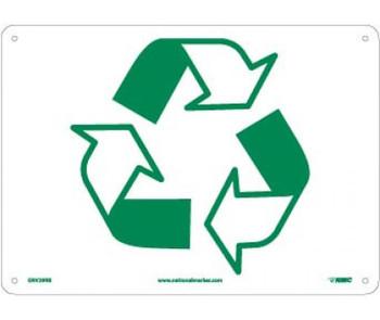 (Graphic Of Recycle Arrow 10X14 Rigid Plastic