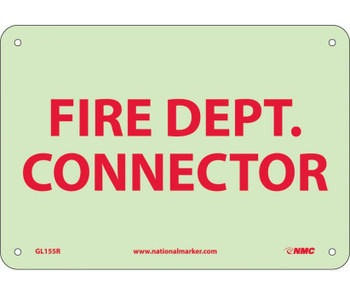 Fire Fire Dept. Connector 7X10 Rigid Plasticglow