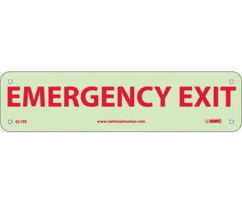Emergency Exit 3X12 Glow Rigid